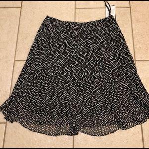 NWT Nine West Navy Polka Dot Skirt